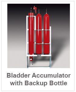 bladder accumulator with backup bottle-pt